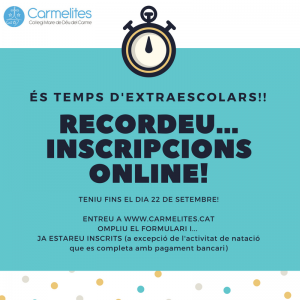 ES TEMPS D'EXTRAESCOLARS!! (2)