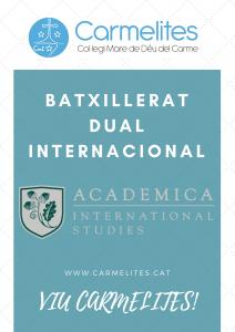 DUAL INTERNACIONAL BATXILLERAT CARMELITES